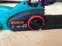Bosch chainsaw - electric