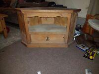 Wooden corner tv cabinet