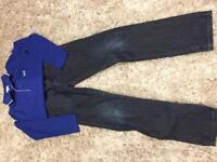 Hugo Boss boys slim fit jeans & sweatshirt - Size 12xs