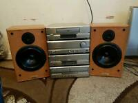 Denon stack system midi excellent condition hifi seperates speakers