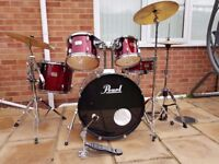 Pearl Export drum kit with 3 cymbal pack