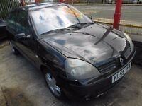 renault clio 1.2 dynamique 3dr 55 plate ,some service history,full mot on purchase