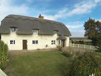 4 bedroom 19th century thatched cottage recently modernised, 1.1 Acres. No onward chain