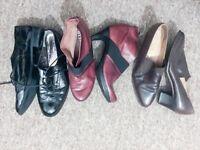 Ladies bundle of shoes size 8 - hush puppies, hispanitas