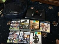 Sony ps3 slim 500gb hard drive plus 7 games and controller
