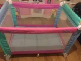 Travel cot with bag great condition