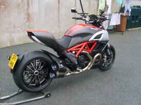 Full body parts for a 2011 Ducati Diavel
