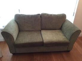 2 x 2 seater sofas (1 is a sofa bed) + footstool