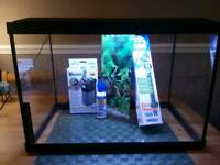 Aqua Expert 70 Aquarium Black with extras