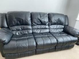 Leather 3 seater electric sofa