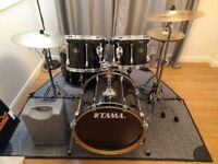 Tama Superstar Rock Kit (Black) inc Cymbals, Hardware, Cases & Extras