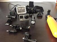 GoPro HERO 4k Black with 3 batteries and accessories
