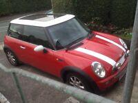 Mini Cooper 1.6. Spares or repairs.