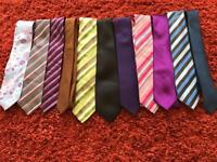 Men's ties from Next and M&S