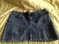Ladies size 14 New Look denim skirt, great condition, pet and smoke free home