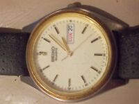 SEIKO CREAM FACE QUARTZ WATCH LOVELLY FACE