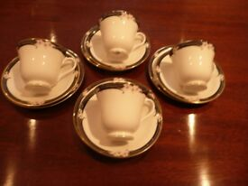 Royal Doulton Enchantment pattern cups,sucers and plates