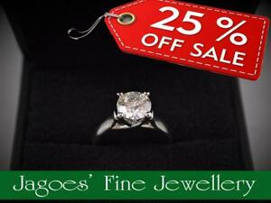 ALL 25% OFF IN APRIL! - Large Selection of Diamond Rings In-Stock from 1ct to 2ct!