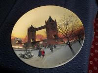 """Wedgwood 8"""" Collectors plate: 'Dusk over the Water'. Plate 891A, plus certificate"""