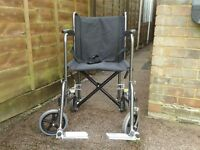 Wheelchair.Used on a few occasions.Only selling as have purchased self propelling wheelchair.