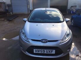 Ford Fiesta 1.6 tdci in silver 2009 in great condition inside and out