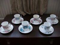 Bone china tea sets. £10 each.