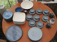 NEW PRICE = Denby Blue Jetty from £4 to SET £260 ono