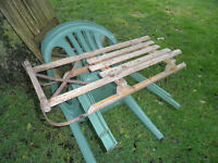 Vintage 1960's Child's Sledge, with steel runners
