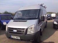 FORD TRANSIT 2007 medium roof ready for work in silver long mot anytrial welcomex considered