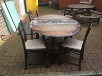 Table and chairs solid wood ready to shabby ing can deliver