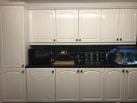 White kitchen units x23 and appliance