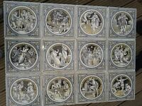 Antique 'Victorian' MINTONS John Moyr Smith Shakespeare Tiles c1880.