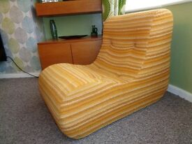 Vintage 1970's Modular Design Lounge Chair