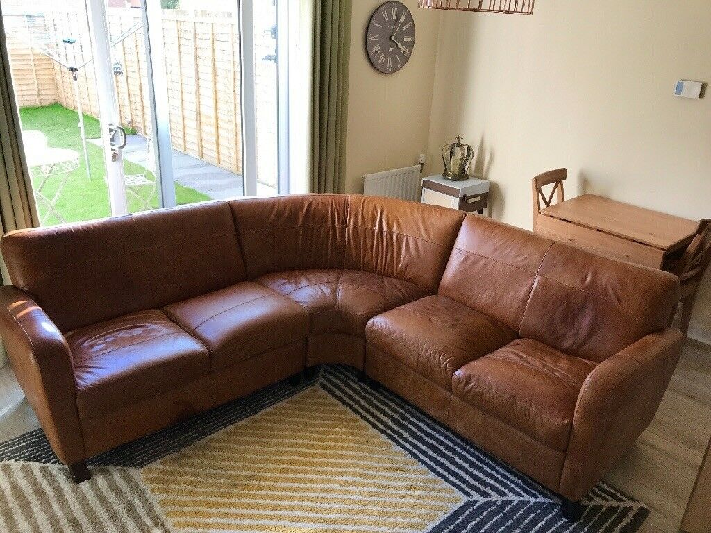 Ranch Leather Corner Sofa In Lenzie Glasgow Gumtree
