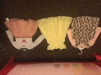 Three baby girl summer dresses 6-9 month