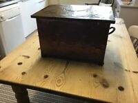 Old copper log box