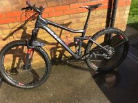 Cube stereo full suspension mountain bike