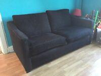 Black sofa bed.