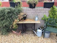 Singer sewing machine outdoor table