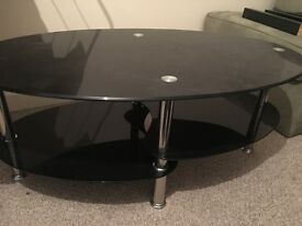 Glass coffee table, great condition
