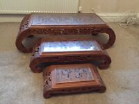 Antique Chinese nest of tables