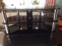 Smoked Glass and Chrome effect complete television stand and AV/Hi-Fi unit.