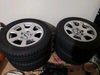 Genuine BMW style 134 alloy wheels with Bridgestone winter tyres 7mm tread