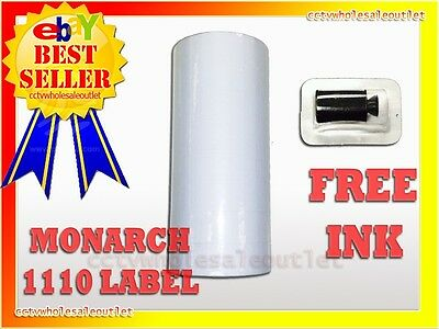MONARCH 1110 WHITE LABEL FOR MONARCH 1110 PRICING GUN 1 SLEEVE=16ROLLS
