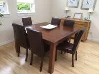 dining table in excellent condition and 6 chairs (need recovered) £ 120