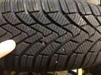 195 65 15 Continental Winter tyres on wheels x 4