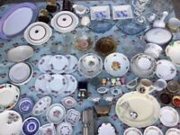 Vintage lot of Crockery tea plates bowls Serving Dishes good makes no chips glassware cutlery jugs