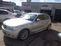 Stunning BMW 118D M sport,5 door hatchback,6 speed manual,FSH,runs and drives as new,£30 road tax,