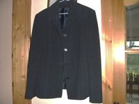 Navy wool and cashmere jacket. Size 18 (small fitting).