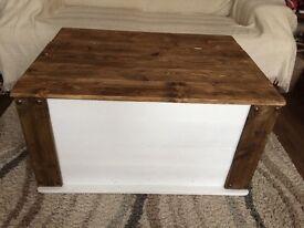 Rustic blanket box very large